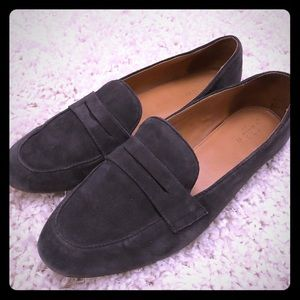 J.Crew suede penny loafers